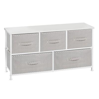 mDesign Fabric 5-Drawer Closet Storage Organizer Furniture Unit