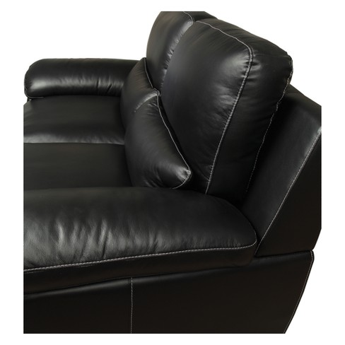 Phenomenal Iohomes Bonelli Contemporary Leatherette Love Seat Black Homes Inside Out Gamerscity Chair Design For Home Gamerscityorg