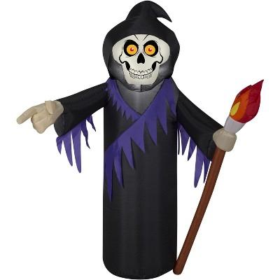 Gemmy Airblown Reaper, 3.5 ft Tall, black