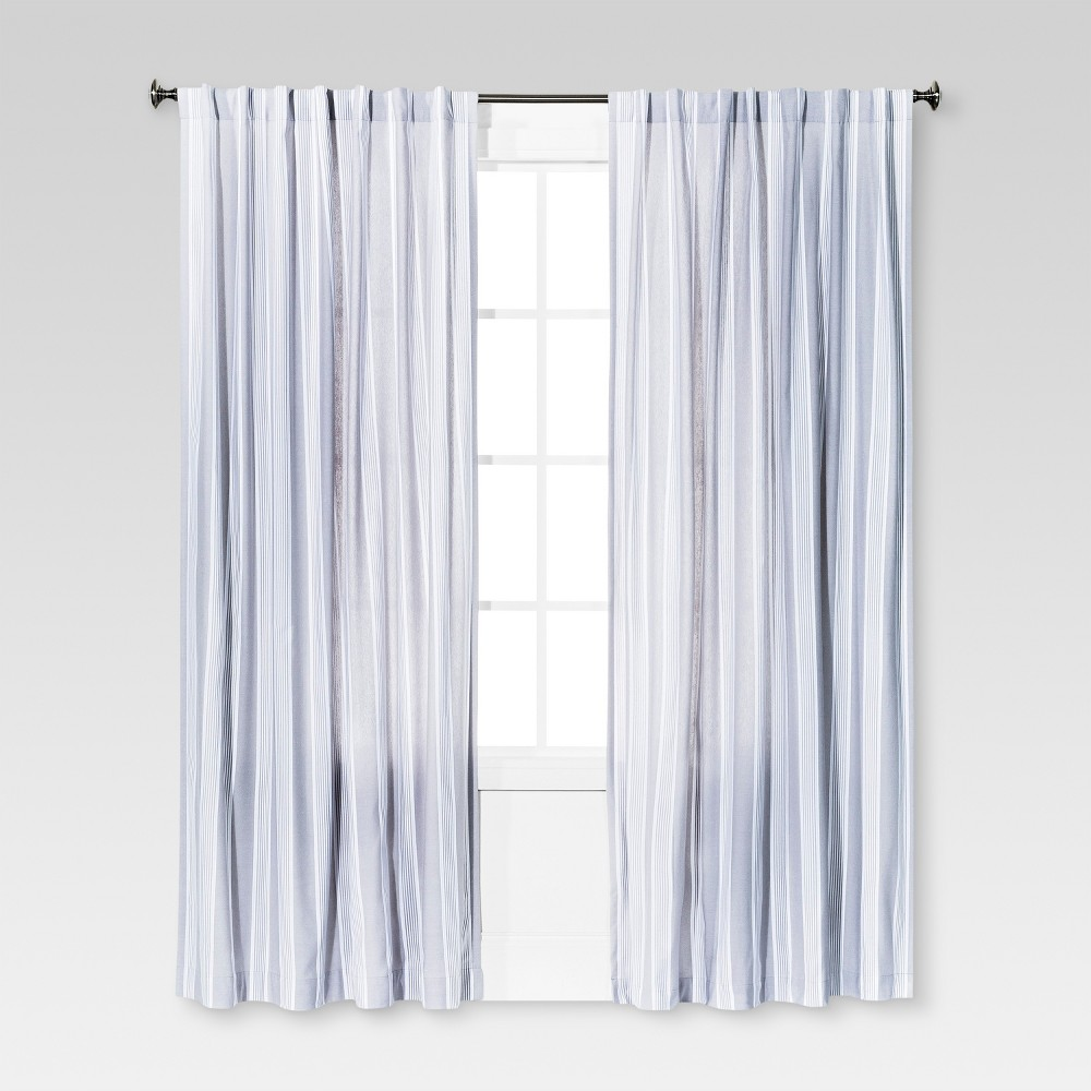 Stripe Window Curtain Panel Radiant Gray (54