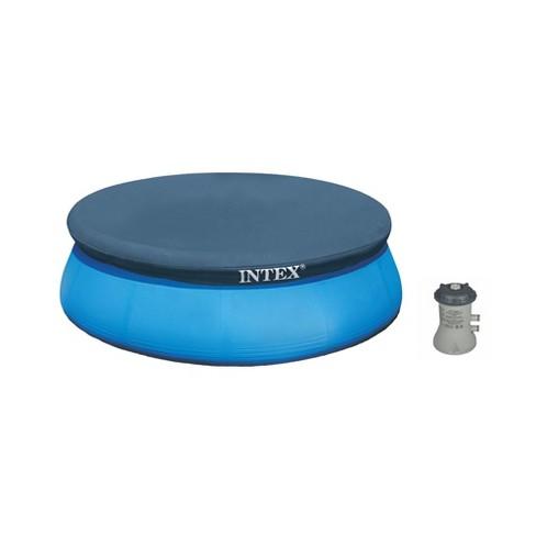 Intex Above Ground Swimming Pool Cartridge Filter Pump & Vinyl Round Cover  Tarp
