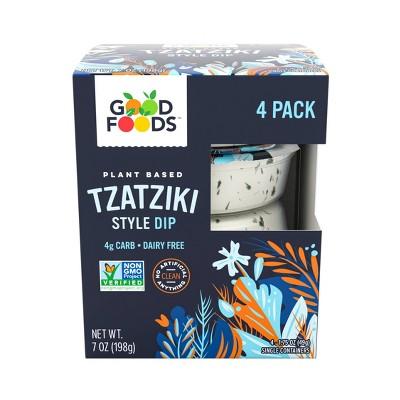 Good Foods Plant Based Tzatziki Style Dip - 7oz/4ct