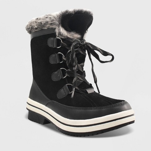 Women's Ellysia Microsuede Short Functional Winter Boots - Universal Thread™ - image 1 of 2