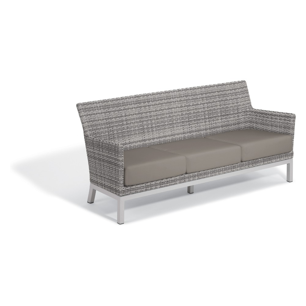 Argento Sofa with Lumbar Pillow Stone Gray - Oxford Garden
