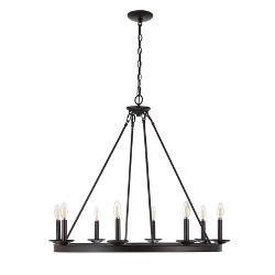 8 Light Fauna Chandelier Oil Rubbed Bronze - Safavieh