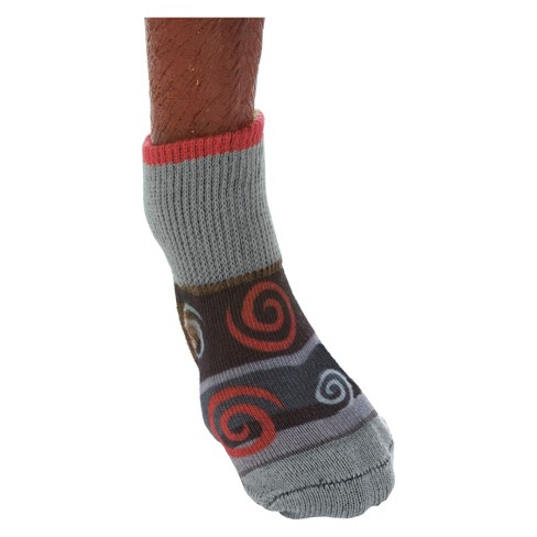Ultra Paws - Ultra Doggie Socks Oakley Gray & Red - image 1 of 2