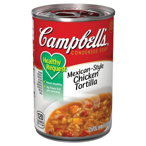 Campbell's® Condensed Healthy Request® Mexican Style Chicken Tortilla Soup 10.75 oz - image 1 of 5