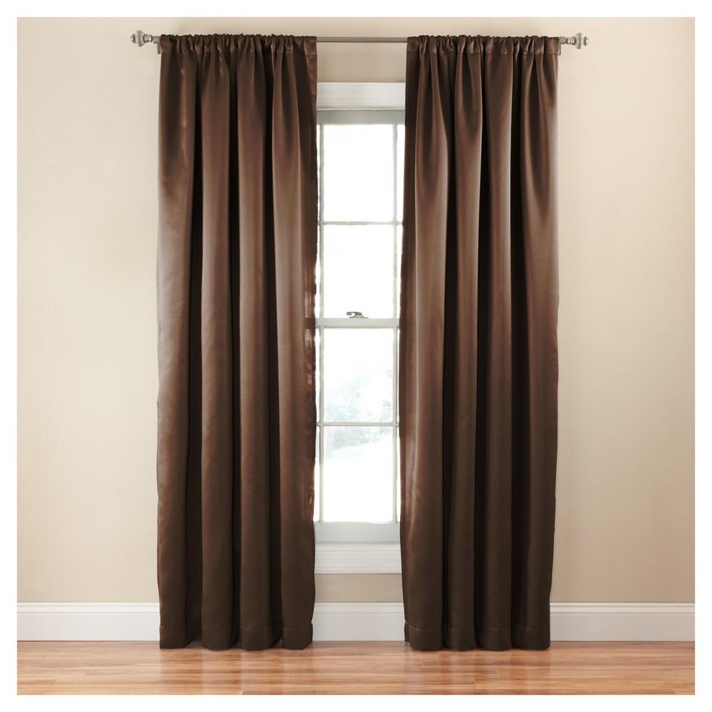 Tricia Room Darkening Curtain Brown (52