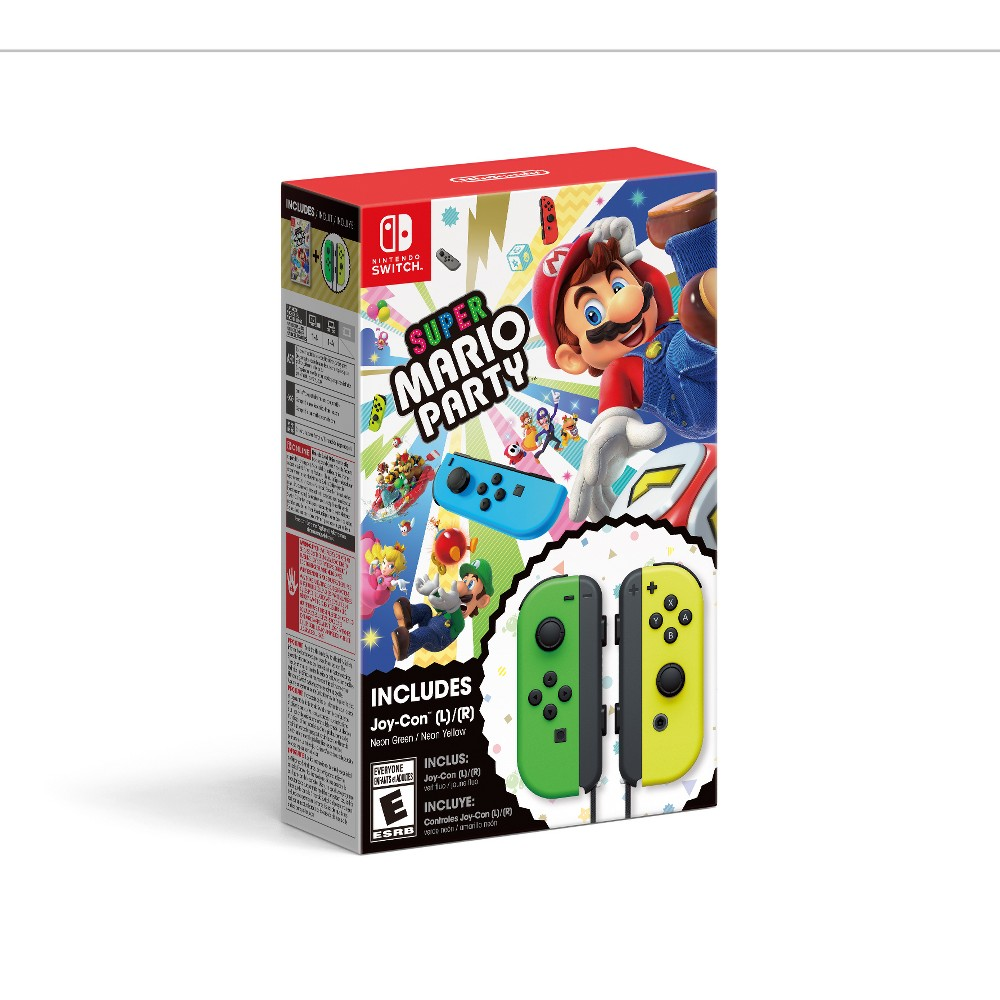Super Mario Party with Neon Green / Neon Yellow Joy-Con Set - Nintendo Switch