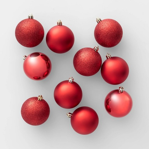 50ct Christmas 70mm Ornament Set Red - Wondershop™ - image 1 of 4