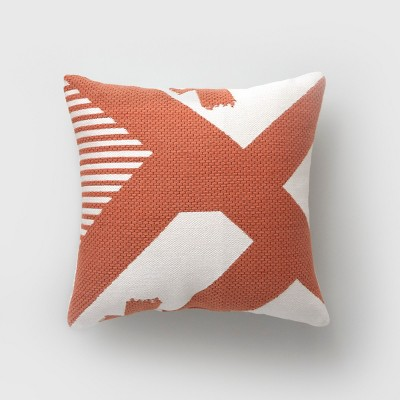 Charmant Square Color Splash Outdoor Pillow Terracotta   Project 62™ : Target