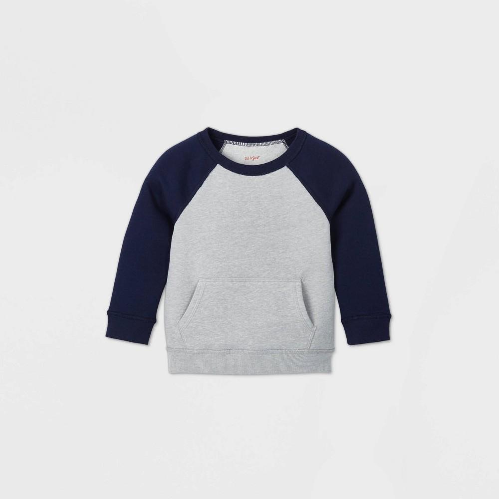 Toddler Boys 39 Adaptive Abdominal Access Fleece Sweatshirt Cat 38 Jack 8482 Gray Navy 4t