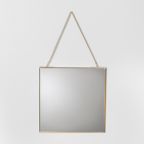Distressed Brass Wall Mirror - Hearth & Hand™ with Magnolia - image 1 of 2