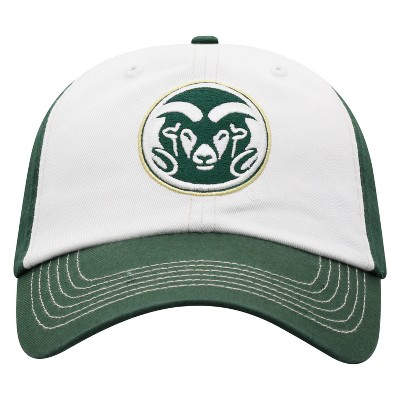 NCAA Colorado State Rams Men's White Washed Cotton Relaxed Fit Hat