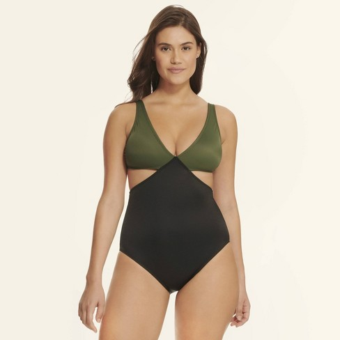 aeebf4e86e5d0 Beach Betty™ By Miracle Brands Women's Slimming Control Colorblock Cut Out One  Piece Swimsuit : Target