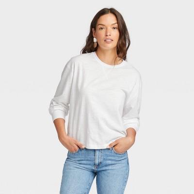 Women's Long Sleeve Boxy T-Shirt - Universal Thread™