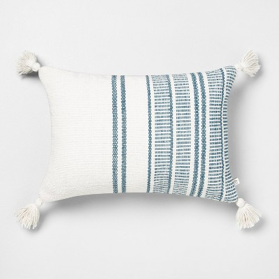 14x20 Stripe Oblong Pillow Blue - Hearth & Hand™ with Magnolia