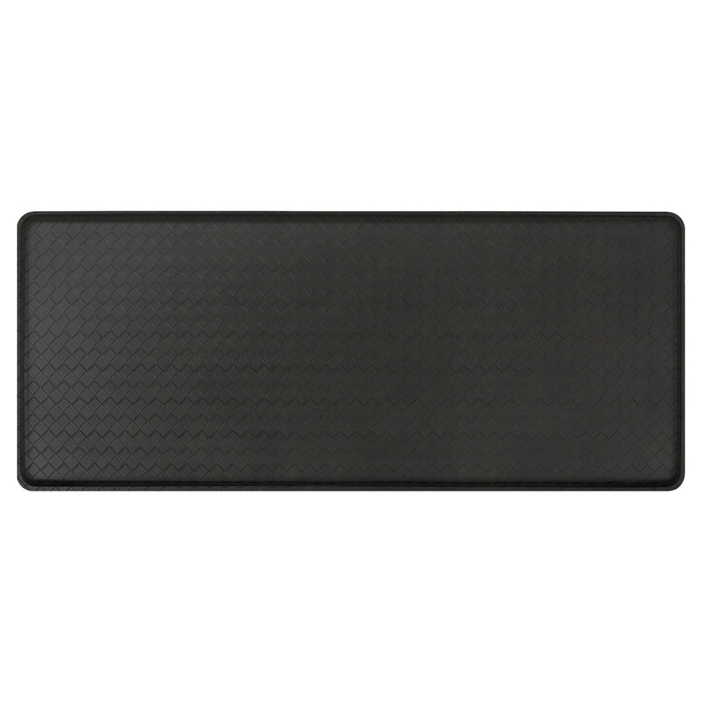 "Image of ""Gelpro Classic Basketweave Comfort Kitchen Mat - Black (20""""X48"""")"""