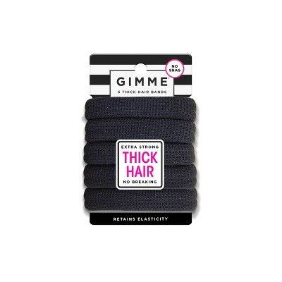 Gimme Clips Thick Hair Bands - Black - 5ct