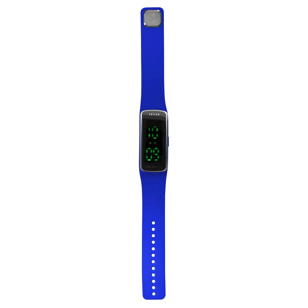 Image of Boys' Fusion Hidden LED Digital Sportwatch - Blue, Boy's, Blue Black