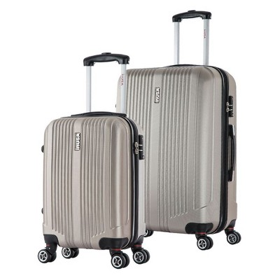 InUSA San Francisco 2pc Hardside Spinner Luggage Set 18 & 26  - Champagne