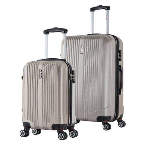 "InUSA San Francisco 2pc Hardside Spinner Luggage Set 18""& 26"" - Champagne - image 1 of 4"