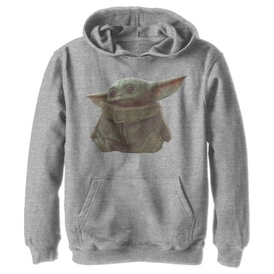 Boy's Star Wars The Mandalorian The Child Portrait Pull Over Hoodie