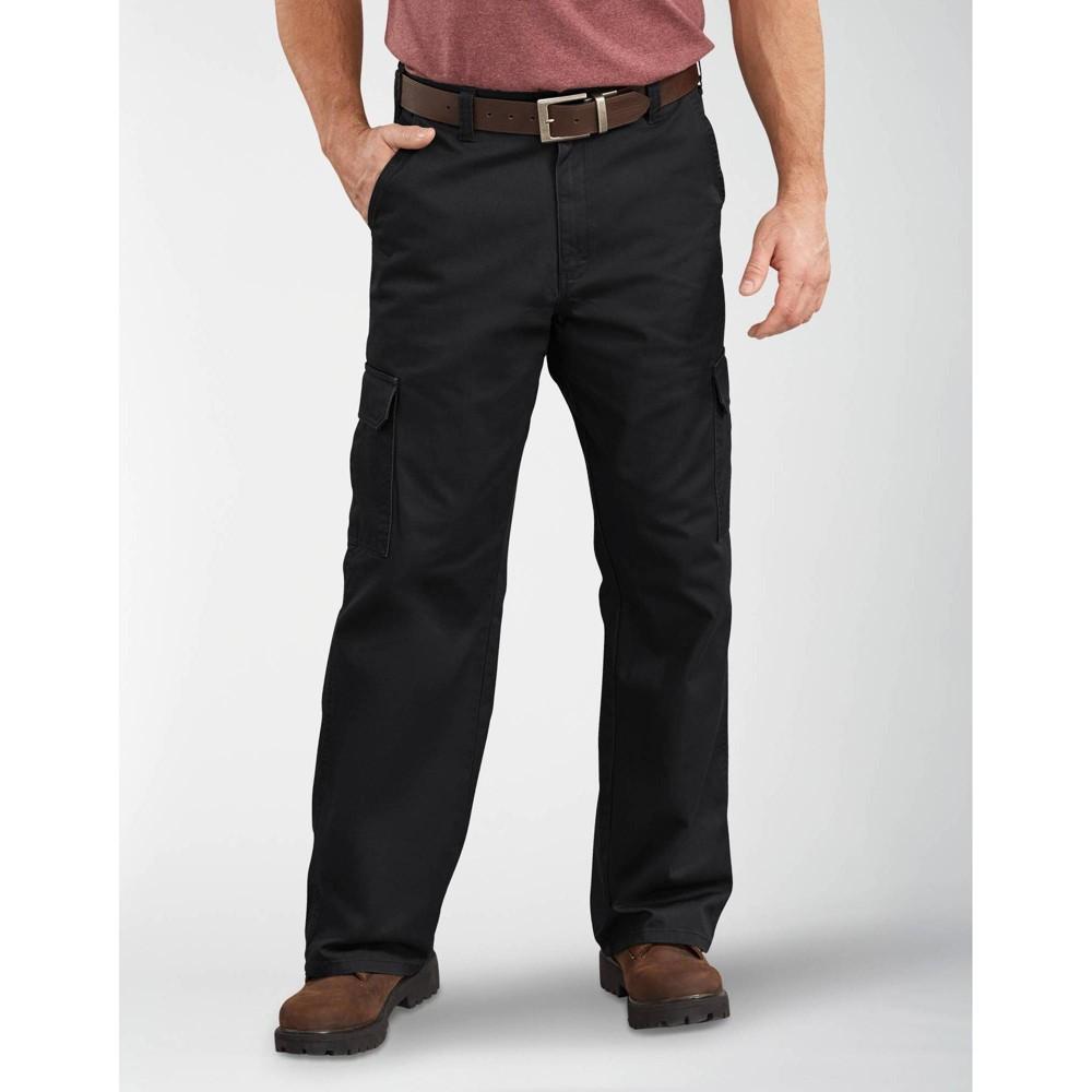 Dickies Men 39 S Loose Fit Straight Leg Cargo Pants Black 36x34