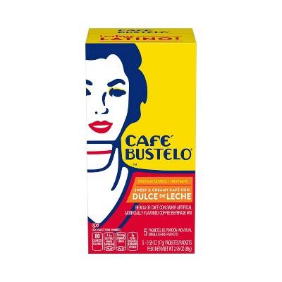 Cafe Bustelo Dulce de Leche Instant Medium Dark Roast Coffee Sticks - 5ct