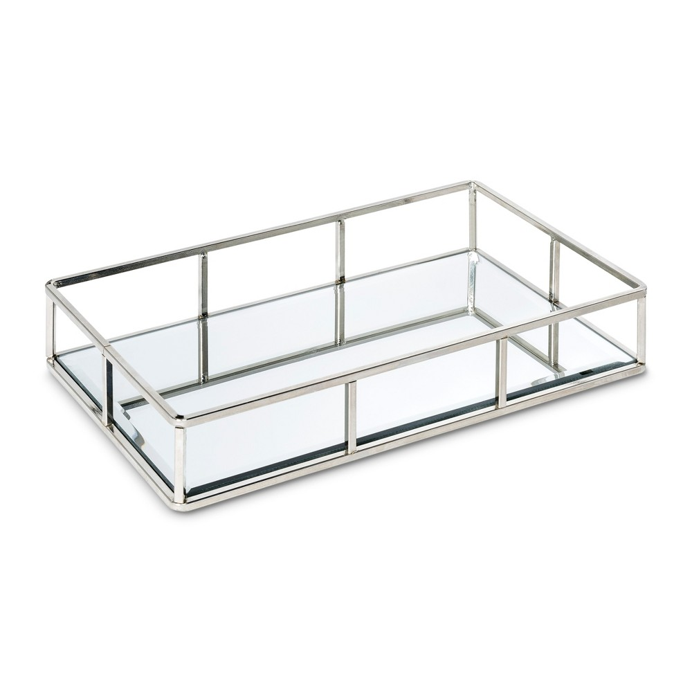 "Image of ""12"""" Glass Inset Jewelry Storage Silver - 88 Main, Adult Unisex"""