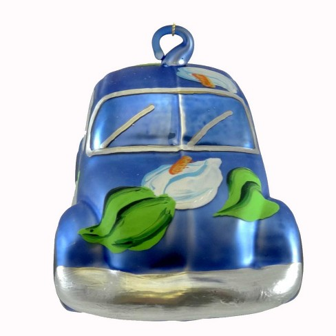Laved Italian Ornaments Volkswagon Bug W/Calla Lilies Flower Power  -  Tree Ornaments - image 1 of 2