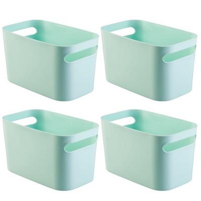 "mDesign Plastic Kids Toy Box Storage Organizer Tote Bin, 10"" Long, 4 Pack"