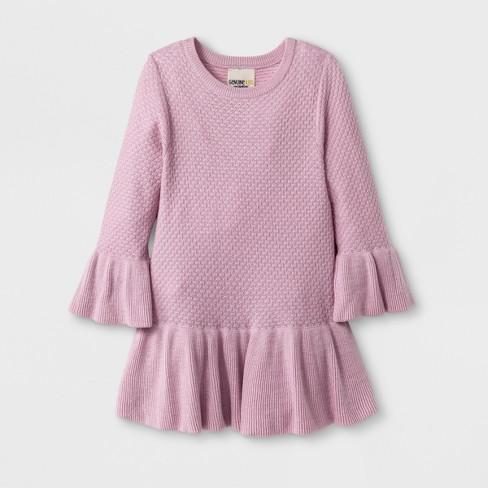 Toddler Girls Sweater Dress Genuine Kids From Oshkosh Pink T