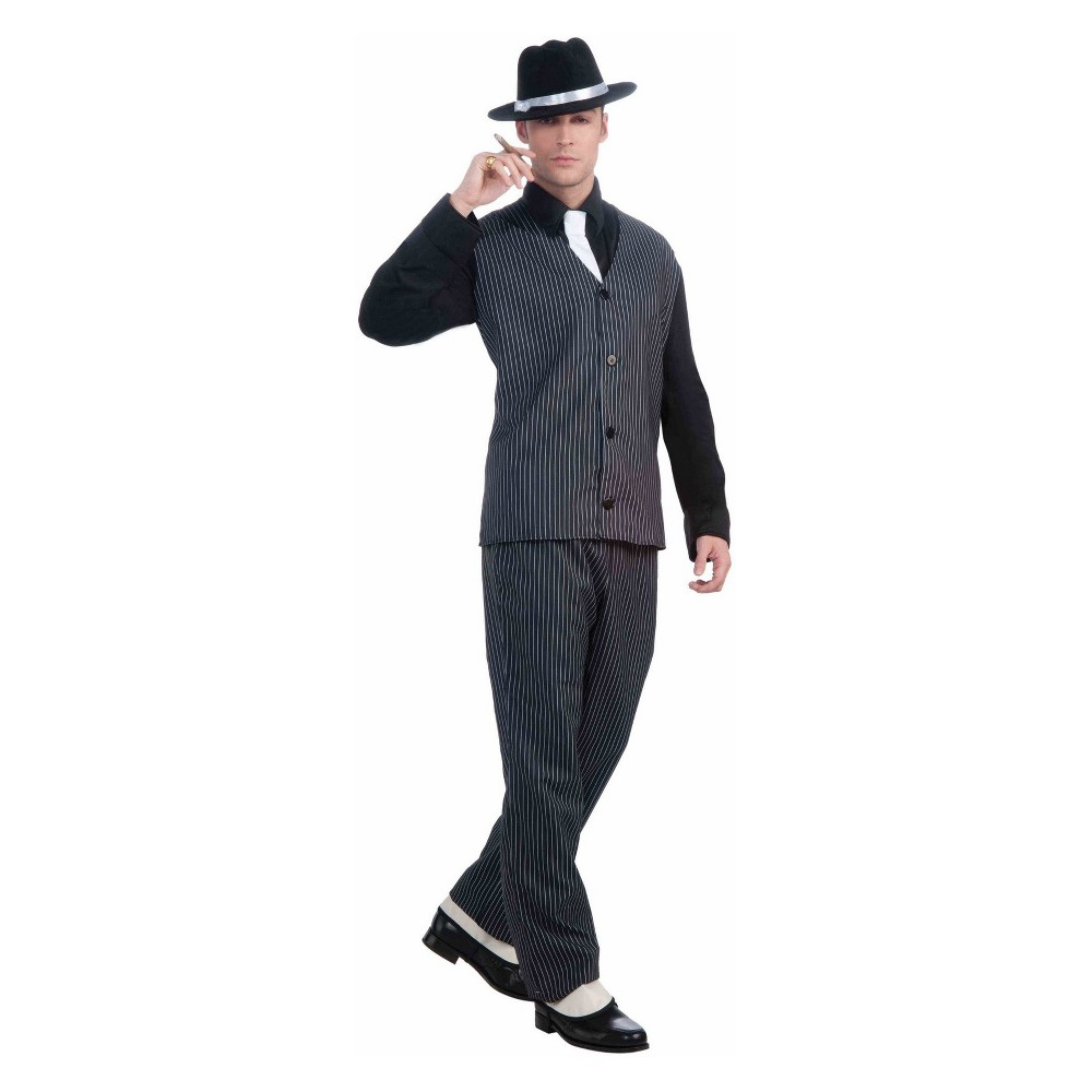 Men's 20's Gangster Halloween Costume One Size, Multi-Colored