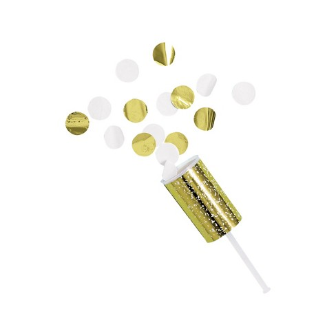 4ct Confetti Party Poppers Gold - Spritz™ - image 1 of 2