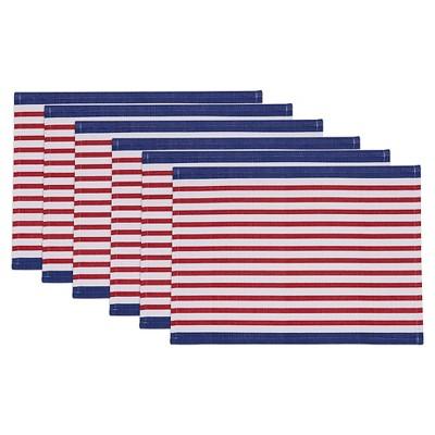 Blue Nautical Stripe Placemat (Set Of 6)- Design Imports