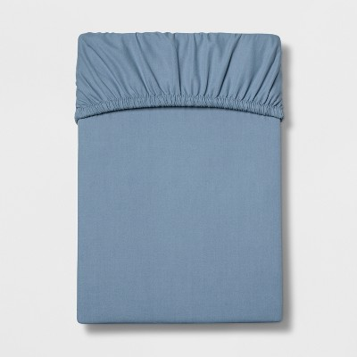Queen 300 Thread Count Ultra Soft Fitted Sheet Set Light Indigo - Threshold™