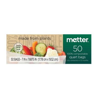 Matter 100% Compostable Quart Bags - 50ct