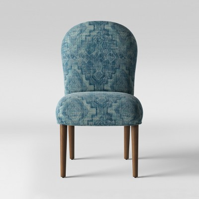 Caracara Rounded Back Dining Chair Blue Woven Design - Opalhouse™