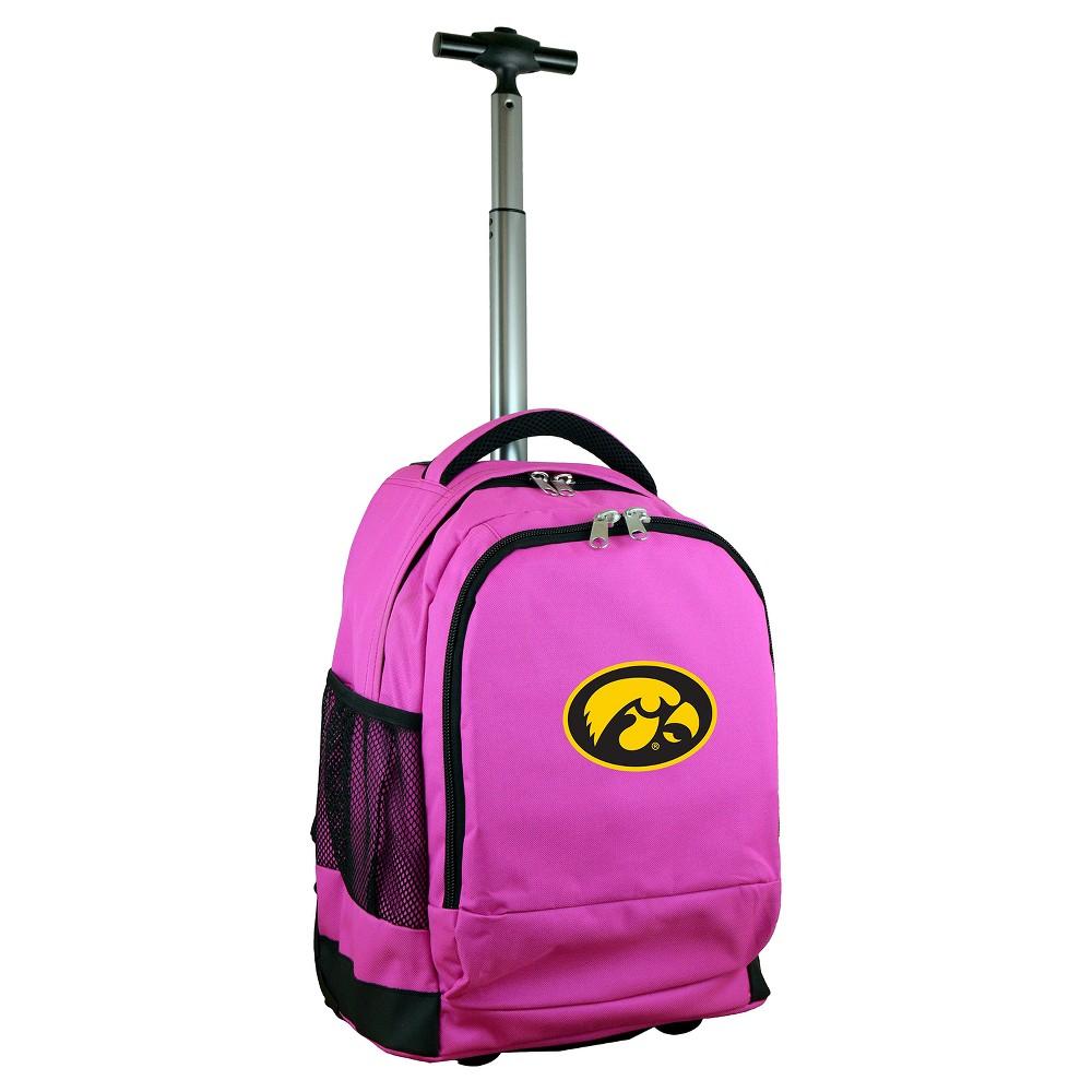 NCAA Iowa Hawkeyes Pink Premium Wheeled Backpack