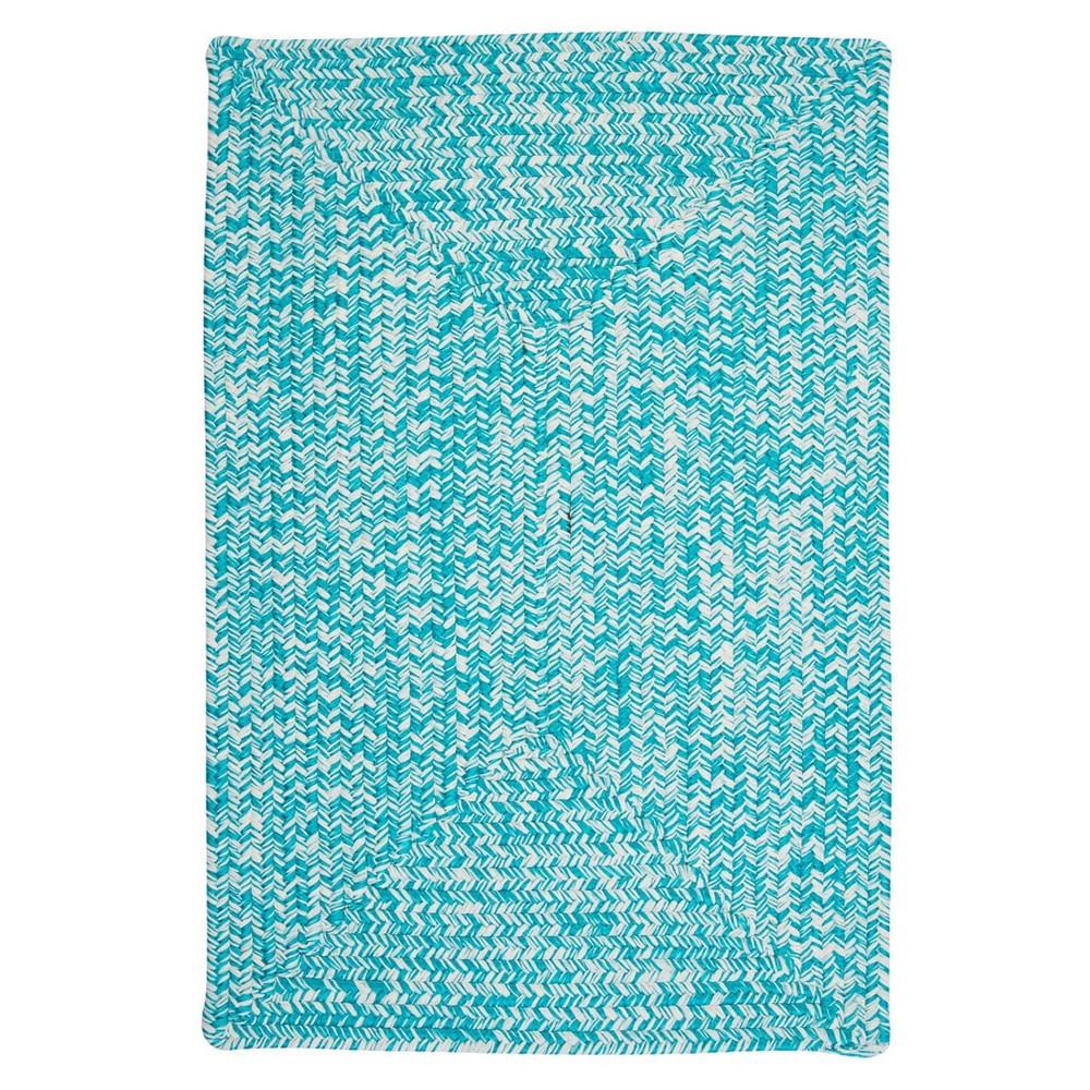 Island Tweed Braided Area Rug Turquoise