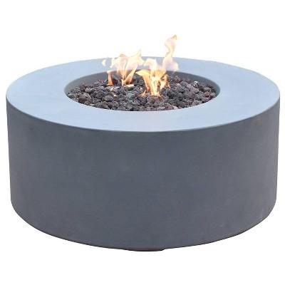 "Venice 34"" Outdoor Fire Pit Propane Table Backyard Patio Heater - Elementi"