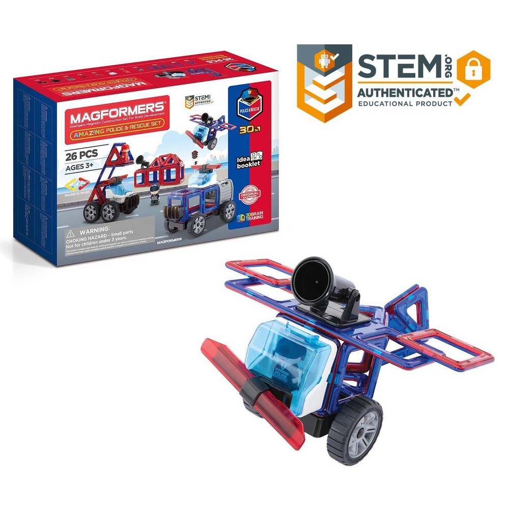 Magformers Amazing Police Rescue 26pc Set