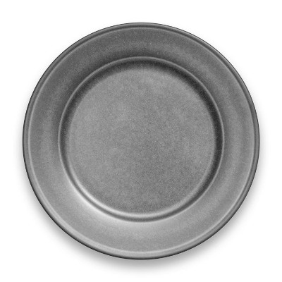 "10.5"" Melamine and Bamboo Dinner Plate Gray - Threshold™"