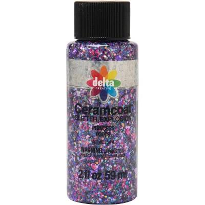 Delta Ceramcoat Glitter Explosion Acrylic Paint (2oz) - Princess