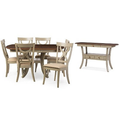 Balmoral Chic Country Cottage Antique Oak Wood Dining Table Gray/Brown - Baxton Studio