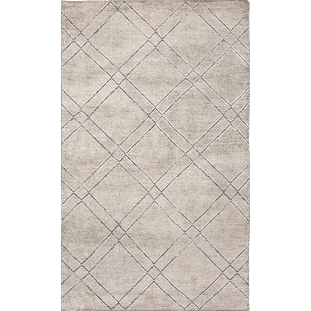 5'X8' Geometric Knotted Area Rug Khaki/Gray (Green/Gray) - Safavieh