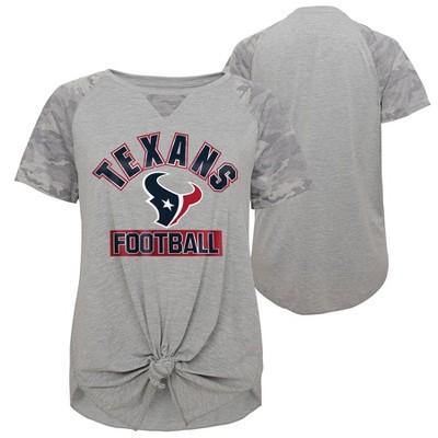 NFL Houston Texans Women's Short Sleeve Front Knot T-Shirt
