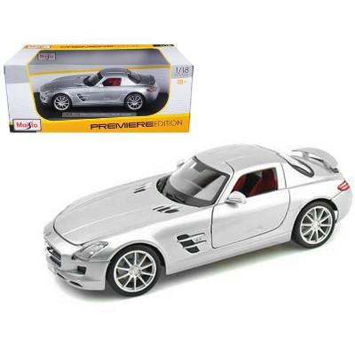 Mercedes-Benz SLS AMG Roadster Convertible Silver Maisto 34272 1//24 Diecast Car