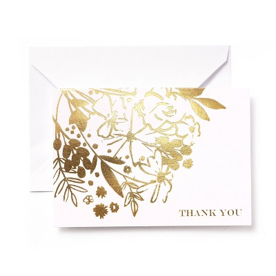 50ct Mari-Mi Floral Thank You Cards